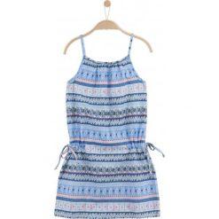 Sukienki dziewczęce letnie: Letnia sukienka we wzorzysty deseń dla dziewczynki