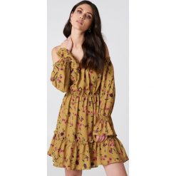 Sukienki hiszpanki: Glamorous Sukienka mini z i odkrytymi ramionami – Orange,Multicolor,Yellow