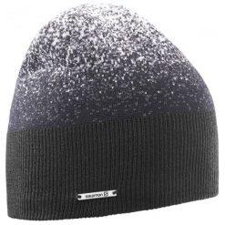 Salomon Czapka Angel Beanie Black/Forged Iron. Czarne czapki zimowe damskie Salomon, z polaru. W wyprzedaży za 95,00 zł.