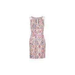 Sukienki krótkie Naf Naf  LIBOLLY. Szare sukienki mini marki NAF NAF, z krótkim rękawem. Za 407,20 zł.