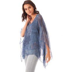 Bluzki asymetryczne: Koszulka w kolorze niebieskim