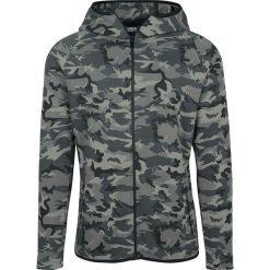 Bluzy męskie: Urban Classics Interlock Camo Zip Jacket Bluza z kapturem rozpinana kamuflaż (Dark Camo)