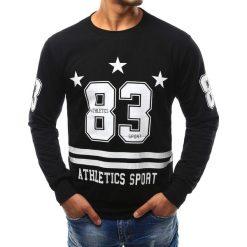 Bluzy męskie: Bluza męska z nadrukiem czarna (bx2368)
