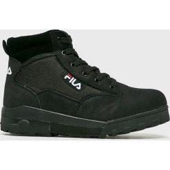 Fila - Buty. Czarne buty trekkingowe męskie Fila, z materiału, na sznurówki, outdoorowe. Za 469,90 zł.
