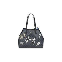 Torby shopper Guess  VIKKY LARGE TOTE. Czarne shopper bag damskie Guess. Za 639,00 zł.