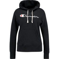 Champion Reverse Weave HOODED  Bluza z kapturem black. Czarne bluzy z kapturem damskie Champion Reverse Weave, l, z bawełny. Za 459,00 zł.