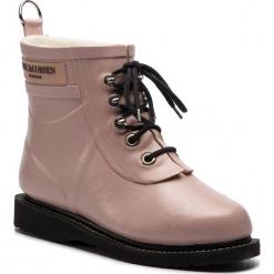 Kalosze ILSE JACOBSEN - RUB2 Adobe Rose 378. Brązowe buty zimowe damskie marki Alma en Pena, z materiału, na obcasie. W wyprzedaży za 409,00 zł.