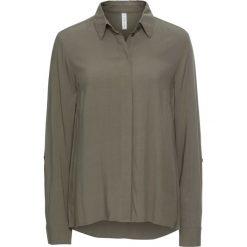 Bluzka bonprix zielono-szary. Szare bluzki z odkrytymi ramionami marki bonprix. Za 37,99 zł.