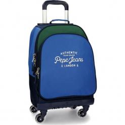 Walizka w kolorze niebiesko-zielonym - 29,6 l. Niebieskie walizki Pepe Jeans, z materiału. W wyprzedaży za 299,95 zł.