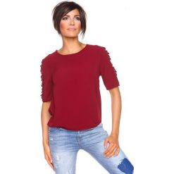 """T-shirty damskie: Koszulka """"Aline"""" w kolorze bordowym"""