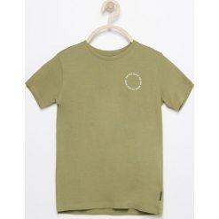Odzież dziecięca: T-shirt z nadrukiem na plecach – Khaki