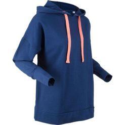 Bluza z kapturem oversize, długi rękaw, z kolekcji Maite Kelly bonprix kobaltowy. Niebieskie bluzy rozpinane damskie bonprix, z długim rękawem, długie, z kapturem. Za 109,99 zł.