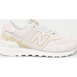 New Balance - Buty WL574NGA. Szare buty sportowe damskie New Balance, z materiału. Za 399,90 zł.