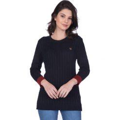 """Swetry klasyczne damskie: Sweter """"Musselburgh"""" w kolorze granatowym"""