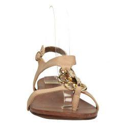 SANDAŁY S.BARSKI 44706. Brązowe sandały damskie Casu. Za 64,99 zł.