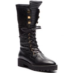Kozaki STUART WEITZMAN - Elspeth YL96194 Black Turin. Czarne buty zimowe damskie Stuart Weitzman, ze skóry. Za 2569,00 zł.
