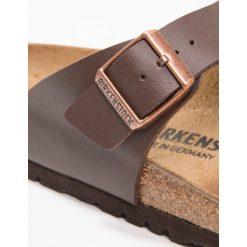 Birkenstock RAMSES Kapcie dark brown. Brązowe kapcie męskie Birkenstock, z materiału. Za 299,00 zł.