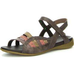 """Rzymianki damskie: Skórzane sandały """"Jaeh"""" w kolorze ciemnobrązowym"""
