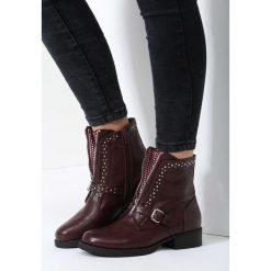 Bordowe Botki Roarrr. Czerwone buty zimowe damskie balada. Za 149,99 zł.