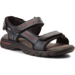 Sandały męskie skórzane: Sandały LASOCKI FOR MEN – MI07-A644-A505-01 Granatowy