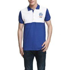 Koszulka polo w kolorze niebiesko-białym. Białe koszulki polo Camel Active, Varsity, l. W wyprzedaży za 72,95 zł.