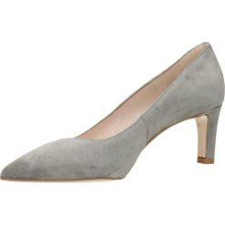 Czółenka RUMI. Szare buty ślubne damskie Gino Rossi, ze skóry, na wysokim obcasie. Za 224,95 zł.