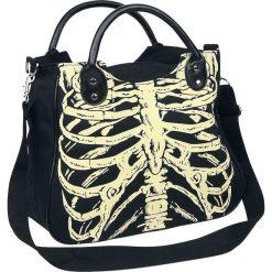Torebki klasyczne damskie: Banned Skeleton Torebka – Handbag czarny