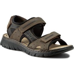 Sandały męskie skórzane: Sandały RIEKER – 26757-25 Brown Combination