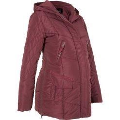 Płaszcz ciążowy pikowany z regulacją obwodu bonprix czerwony klonowy. Czerwone kurtki ciążowe bonprix, moda ciążowa. Za 239,99 zł.
