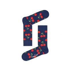 Skarpety Happy Socks Cherry (CHE01-6000). Czerwone skarpetki męskie Happy Socks, z bawełny. Za 23,99 zł.