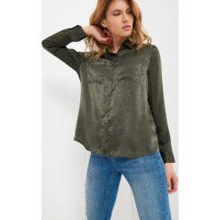 Odzież damska: Satynowa koszula