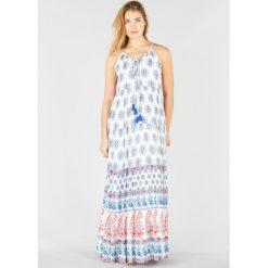 Długie sukienki: Sukienka bez rękawów, bardzo długa, wzór paisley