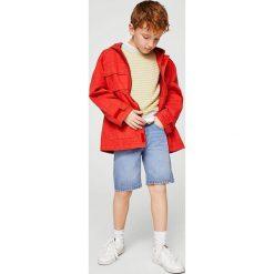 Mango Kids - Sweter dziecięcy Viti 110-164 cm. Szare swetry chłopięce marki bonprix, m, melanż, z dzianiny, z kontrastowym kołnierzykiem. Za 79,90 zł.