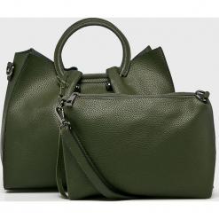 Answear - Torebka. Szare torebki klasyczne damskie ANSWEAR, w paski, z materiału, średnie. W wyprzedaży za 119,90 zł.