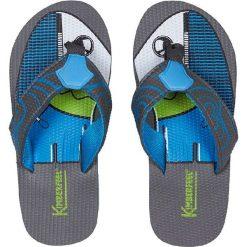 """Japonki """"Tahiti"""" w kolorze niebieskim. Niebieskie klapki chłopięce marki Kimberfeel. W wyprzedaży za 43,95 zł."""