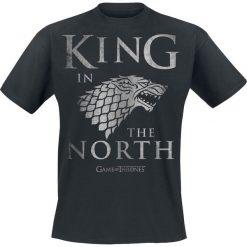 T-shirty męskie z nadrukiem: Gra o Tron House Stark – King In The North T-Shirt czarny