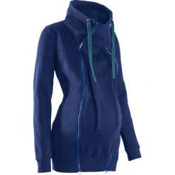 Bluza ciążowa rozpinana, z wstawką niemowlęcą na nosidełko bonprix kobaltowy. Niebieskie bluzy ciążowe marki bonprix. Za 149,99 zł.