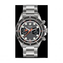 ZEGAREK TUDOR HERITAGE CHRONO 70330N 95740 GREY/BLACK INDEX W. Czarne zegarki męskie TUDOR, szklane. Za 18190,00 zł.