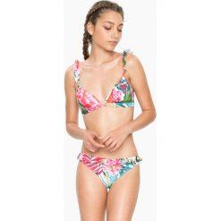 """Biustonosz bikini """"Tropic Frills"""" w kolorze białym ze wzorem. Białe bikini Desigual Sport. W wyprzedaży za 125,95 zł."""