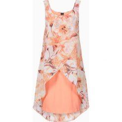 Sukienki: Sukienka z kwiatowym nadrukiem bonprix koralowy z nadrukiem