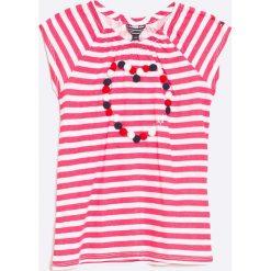 Tommy Hilfiger - Top dziecięcy 3D Heart 98-122 cm. Różowe bluzki dziewczęce TOMMY HILFIGER, l, z bawełny, z okrągłym kołnierzem. W wyprzedaży za 79,90 zł.
