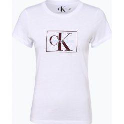 Calvin Klein Jeans - T-shirt damski, czarny. Czarne t-shirty damskie Calvin Klein Jeans, l, z nadrukiem, z jeansu. Za 219,95 zł.