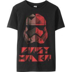 """Odzież chłopięca: T-shirt """"Star Wars"""" bonprix czarny z nadrukiem"""