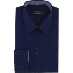 Koszula MARCO 16-04-04-K. Niebieskie koszule męskie na spinki Giacomo Conti, m, z bawełny, z klasycznym kołnierzykiem, z długim rękawem. Za 89,00 zł.