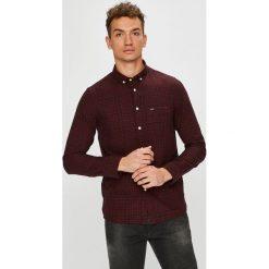 Lee - Koszula. Brązowe koszule męskie na spinki Lee, l, w kratkę, z bawełny, button down, z długim rękawem. Za 199,90 zł.