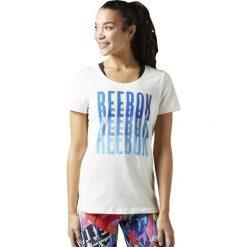 Reebok Koszulka damska Echo Scoop Chalk biała r. L (BK6649). Szare topy sportowe damskie marki Reebok, l, z dzianiny, casualowe, z okrągłym kołnierzem. Za 72,62 zł.