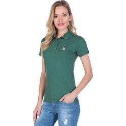 Bluzki asymetryczne: Koszulka polo w kolorze zielonym
