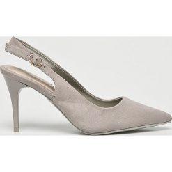 Answear - Czółenka G2G. Szare buty ślubne damskie ANSWEAR, z materiału, na obcasie. W wyprzedaży za 79,90 zł.