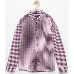 Bawełniana koszula w kratę - Czerwony. Białe koszule chłopięce marki Reserved, m. Za 119,99 zł.