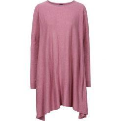 Długi sweter bonprix stary róż melanż. Czerwone swetry klasyczne damskie bonprix. Za 89,99 zł.